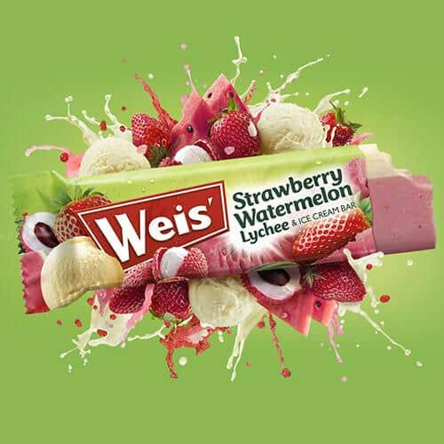2015 - The latest edition to our range - the Weis Strawberry Watermelon, Lychee and Ice Cream Bar - is launched!